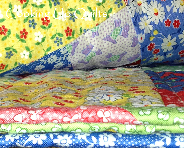 Binding on Disappearing Nine Patch Quilt