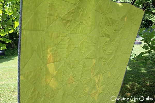 Matchstick Quilting on hourglass quilt