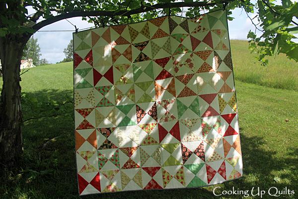 Hourglass quilt front