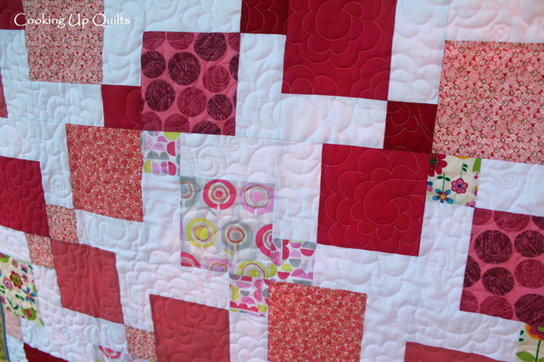 Loopy Flower Quilting Detail