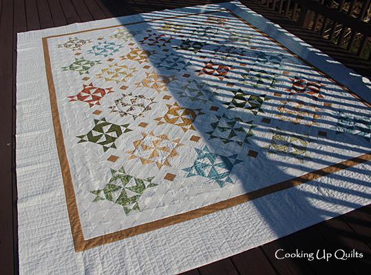 Twirl quilt Machine Quilting