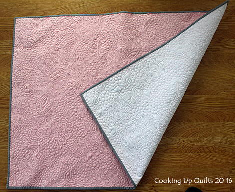 Wholecloth baby girl quilt Minky