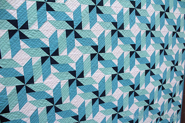 New Quilt Pattern - Spinning - Quilting Detail
