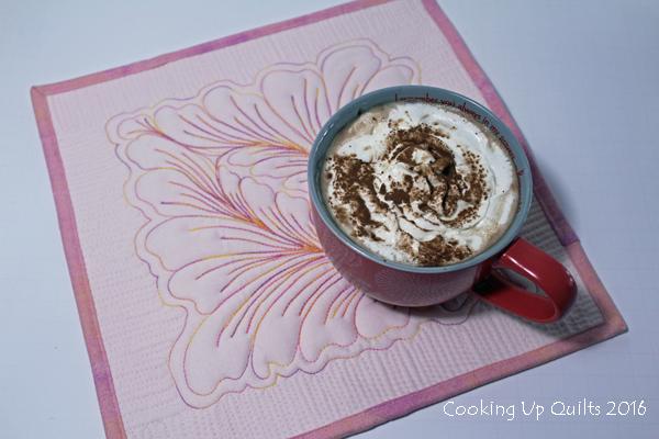 Cafe Mocha and new mug rug